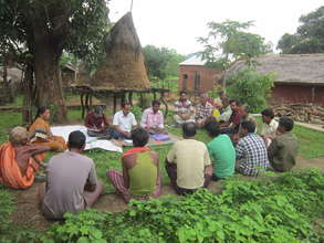 Child Protection Committee in the village meeting.