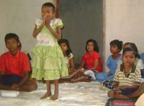 Children at resource center