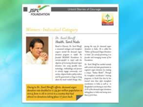 Dr Sunil Shroff gets the JSPL award