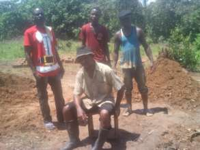 The former child soldiers working on the bricks