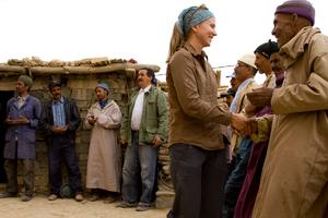 Cloe Erickson meets with local leaders.