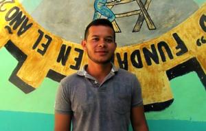 Duany, a new volunteer in El Pital
