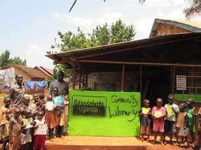 Our library in Danita/ Masese 2 Slum, Uganda