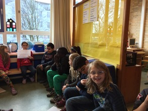 Children present their ideas to other classmates