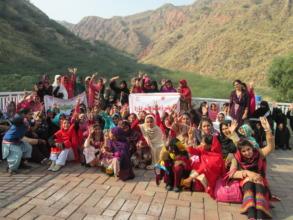 Girls at Kallar Kahar Lake