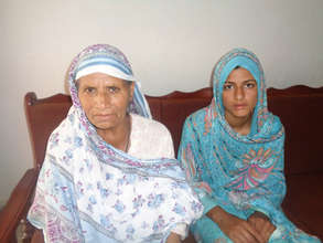 Irum with her Grandmother