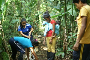 Students Enjoying Learning About the Forest