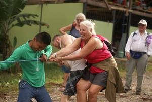 Tug A War with Yachana Lodge Guests