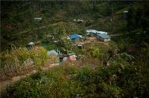 The village of Zemabawk in Aizwal, Mizoram.