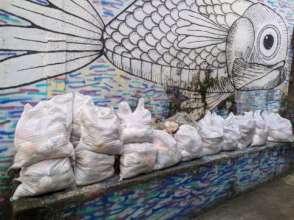 As cestas prontas para entrega