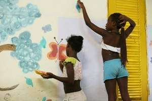 Decorating the Community Center