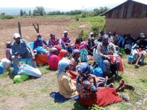 Grandmothers at last weeks food distribution.