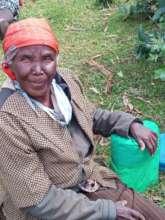 Another grateful elderly recipient of a food hampe
