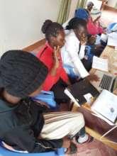 Leila from Switzerland teaching HIV/AIDS awareness