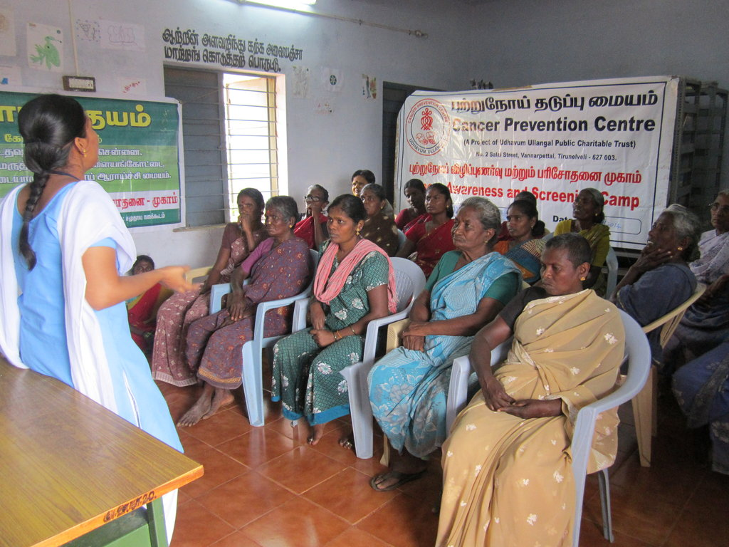 Cancer Screening for 3500 poor women in India