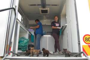 The interior of the HAH-Mobile clinic