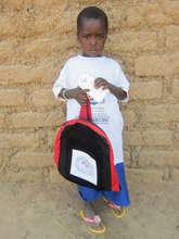Ouedraogo Fati ready for school