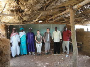 Visitors in Tilli school classroom