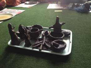 Using clay therapeutically