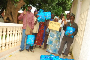Health Agents Picking Up Nets To Distribute
