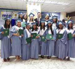 3rd and 4th groups receiving high school diplomas