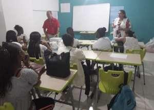 Santa Ana Students in class