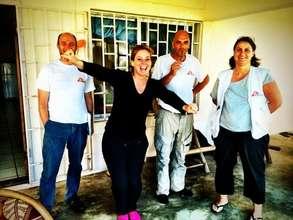 Katie Meyler, MTM, with MSF workers