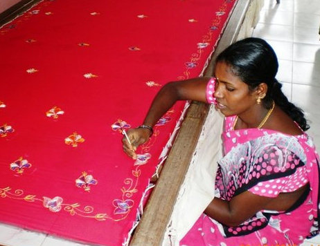 Provide embroidery training to 30 poor women India