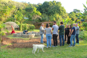Jorge explaining permaculture