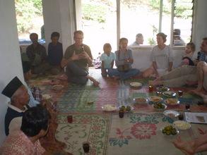 Greg speaks at Kunir village meeting