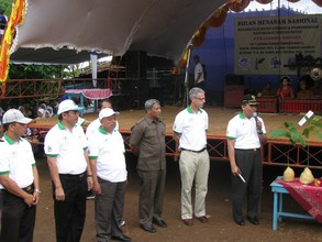 At the inauguration ceremony for the Jepara Forest Conservancy