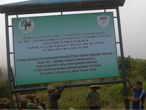 The sign designating the Conservancy land is posted