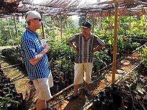 Tim and Saptono at the native species nursery