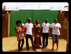 AdvocAid Team Outside Freetown Female Prison