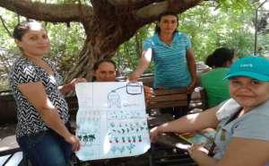Nicaraguan moms get into garden design mode.
