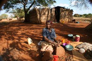 Cracking Marula Nuts in Mgindzangcunu, Vuvulane