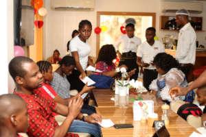 Sponsor Akindele joined the FLA Kids at Valentine