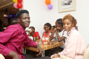 Sponsor Yewande with her sponsored child