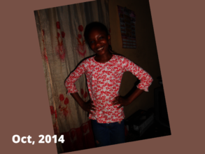 Young Chioma, in 2014 when we met