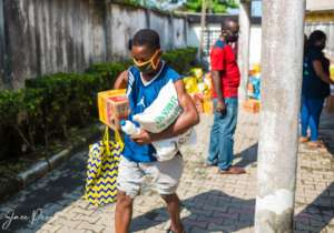 A beneficiary of the COVID-19 Relief programme