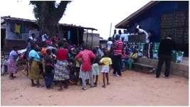 Survivor outreach event, Liberia