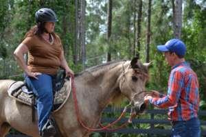 Nancy and her paso fino horse