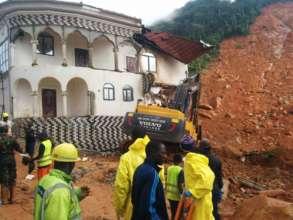 Widespread destruction followed the mudslide