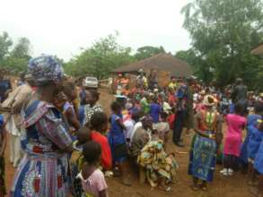 The Community Gathering for Sensitization Event