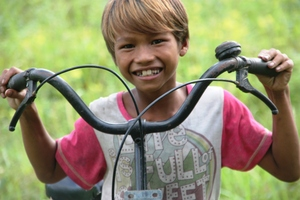 You helped so we can give out 50 more bicycles