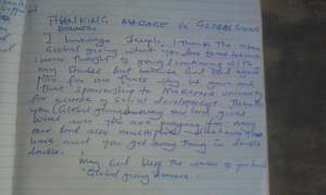 josephs letter to his globalgiving donors