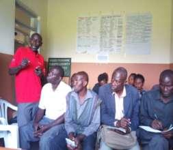 The VHT Kabonero Sub county talking to parents