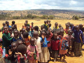 Children from a typical community we serve