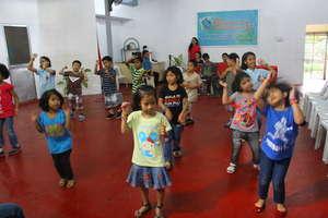 CJFI kids in dancing lesson