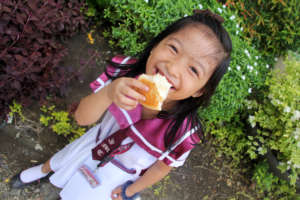 Happy with Bread